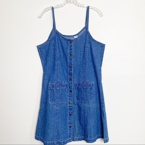 cherokee / denim button-up dress